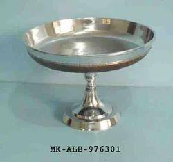 Silver Aluminum Fruit Bowl