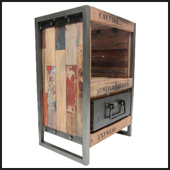 Reclaimed Wood Industrial Furniture - Metal Protected ...