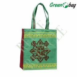 Green Designer Jute Bag