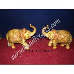 Resin Elephant With Standing