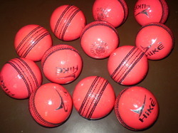 Pink Cricket Leather Balls