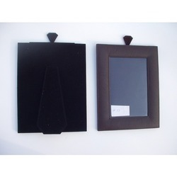 Brown Leather Photo Frame, For Gift, Size: Post Card Size