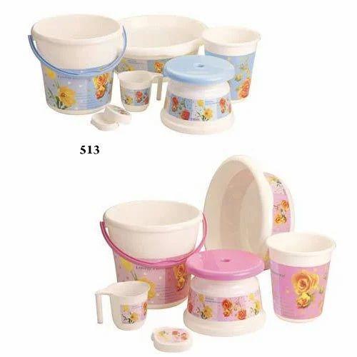 Printed Bathroom Set 6 Pcs Prime Housewares Limited