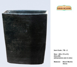 Black Marble Stone Tubs & Basins