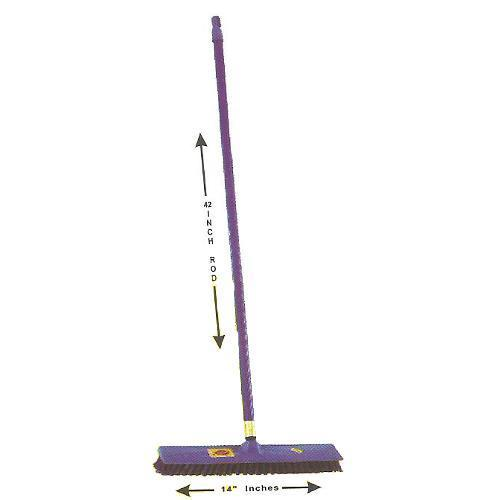 Standard Hard Broom 14 Inches With Rod, Size: Standard, For Standard