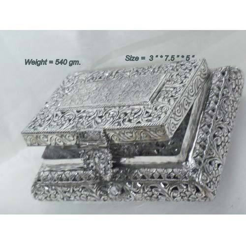 German Silver Jewelry Box Silver Jewellery Box Bharat Handicrafts