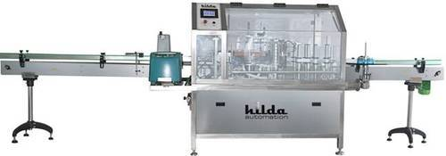 Hilda Automations Silver Automatic BOPP Labeling Machine, Capacity: Multiple, For Commercial