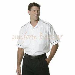 White And Black Drivers Uniform