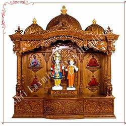 Teak Wood Customize Mandir