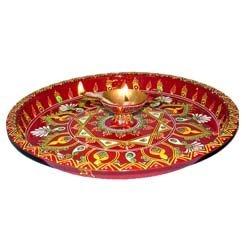 Puja Thali Con Work