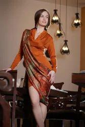 Plain Regular Ladies Silk Kurta