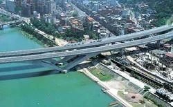 Bih-Tan Bridge And Hsin Tien Tunnel