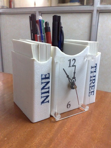 White Acrylic Table Top Clock