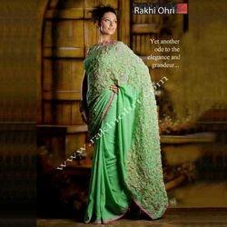 Hand Embroidered Designer Saree