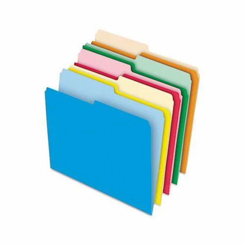 Colored File Folder, कलर्ड फ़ाइल फ़ोल्डर, रंगीन फ़ाइल फ़ोल्डर in  Ramgopalpet, Hyderabad , Print Time And Business Enterprise   ID: 2244772297