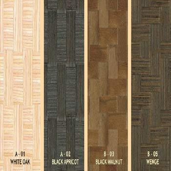 Woven Veneers Sqaure Design Wood Laminates Wholesaler