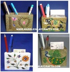Marble Pen And Card Holders
