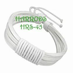 White Leather Bracelets