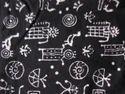 Printed Black & White Dress Material