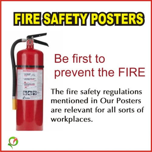 Fire Safety Poster Posterindya Manufacturer In Sector