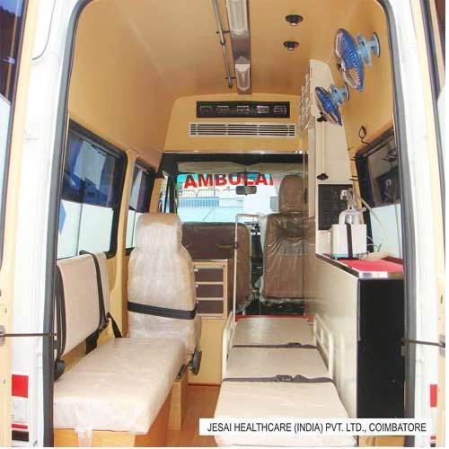 Ambulance Interior Fabrication in Coimbatore, Peelamedu by Jesai