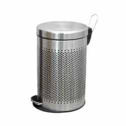 Round Perforated Pedal Bin