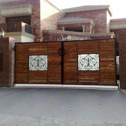 Wooden Tree Gate Design: Designer Iron Wooden Gate