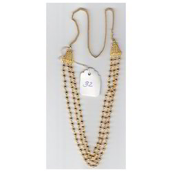 Three Pair Golden Chain Mala