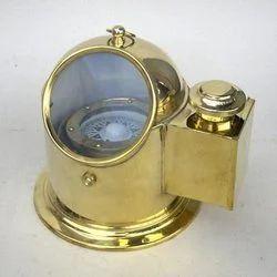 Ships Helmet Compass Brass