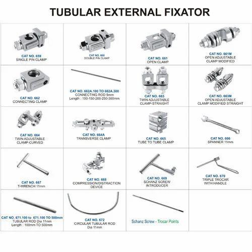 Tubular External Fixator X on Connecting Rod Diagram