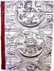 针叶印第安设计印刷手工纸笔记本,大小:25毫升