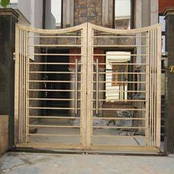Designer Entrance Gate At Rs 100 Square Feets Stainless Steel