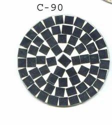 Black Glass Tea Coaster, For Home,Hotels & Restaurant