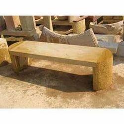 Teak Sandstone Bench