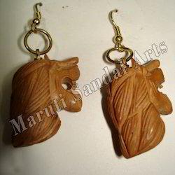 Sandalwood Lion Charm Earring