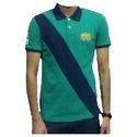 Half Sleeve Green And Blue Mens T-shirt