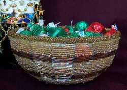 Beaded Candy Bowl