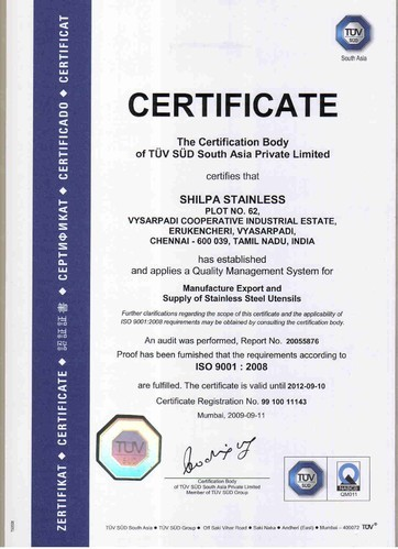 Shilpa Stainless Private Limited - Manufacturer from India   About Us