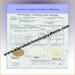 Test Report of Turbine Oil