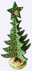 Papier Mache Hand Painted Christmas Tree