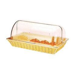 Rectangular Polyrattan Basket With Polycarbonate Roll Top