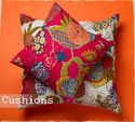 Printed Kantha Quilt Pillow Covers