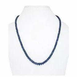 Blue Sapphire Plain Rondelle Beads