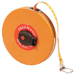 MW Metal Wired Leatherette Case Measuring Tape