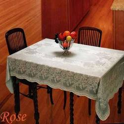 Dining Table PVC Lace Vinyl Table Cloth