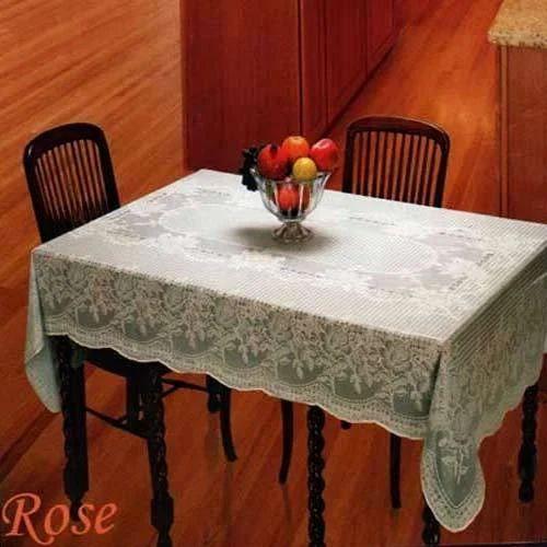 Dining Table Pvc Lace Vinyl Table Cloth Vinyl Tablecloths व न इल ट बल कवर Katwanlam Private Limited Mumbai Id 2067612733