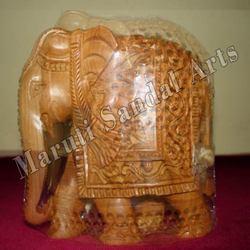 Sandalwood Fine Carving Elephant