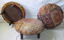 Beautifull Round Fabric Ottoman