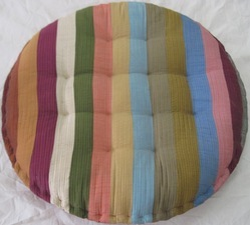 Round Woven Suzani Pillow