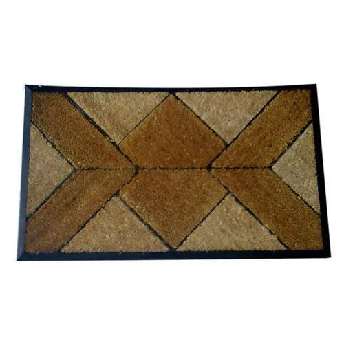 Brown Rubberised Fiber Mat, Mat Size: 45 x 75 cm